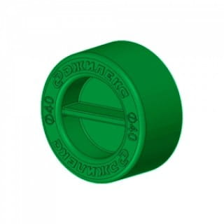 Заглушка для трубы Джилекс ПНД 20 мм (зеленая)