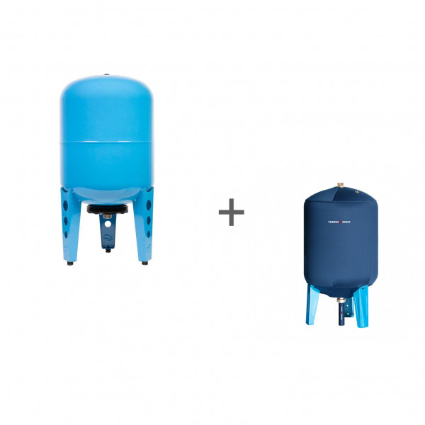 Гидроаккумулятор Джилекс 50ВП к (вертикальный, комбинированный фланец), Чехол TermoZont GB 50 для гидробака